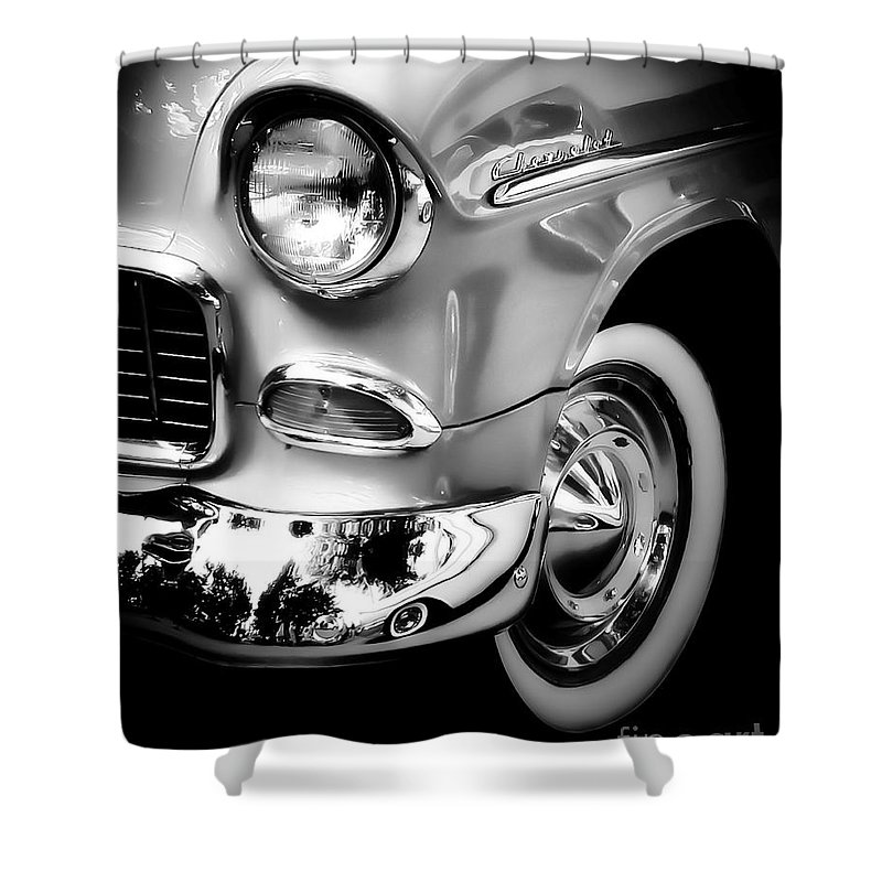 Car Shower Curtain featuring the photograph Chevy Lines by Perry Webster