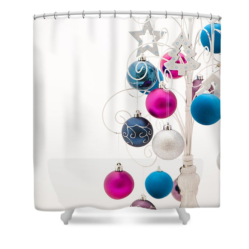 Alternative Shower Curtain featuring the photograph Chic Tree by Anne Gilbert