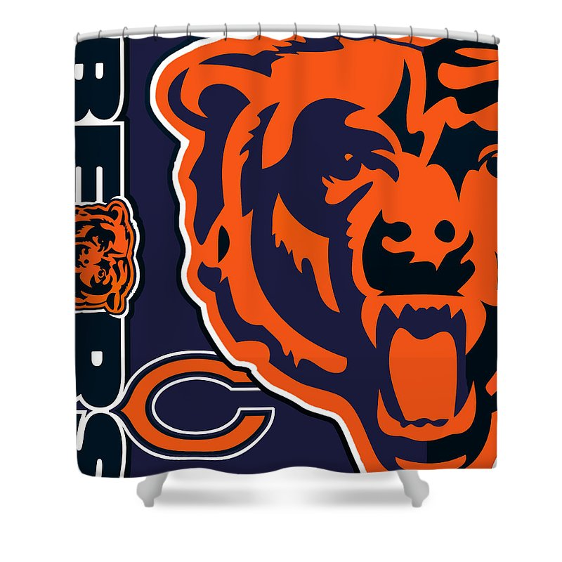 Chicago Shower Curtain Featuring The Painting Bears By Tony Rubino