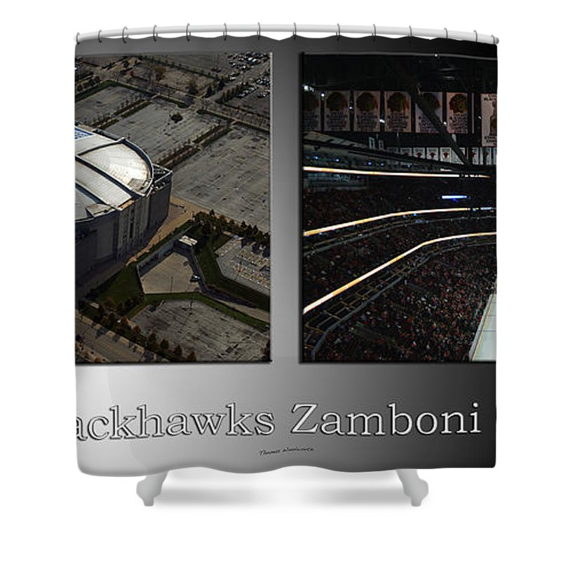 Chicago Blackhawks Shower Curtain Featuring The Photograph Zamboni Break Time 2 Panel Sb By