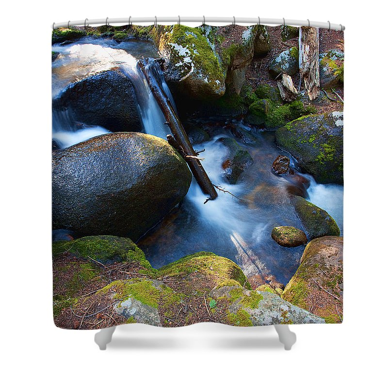 Rivers & Streams Photograph Shower Curtain featuring the photograph Chicago Creek #3 by Jim Garrison