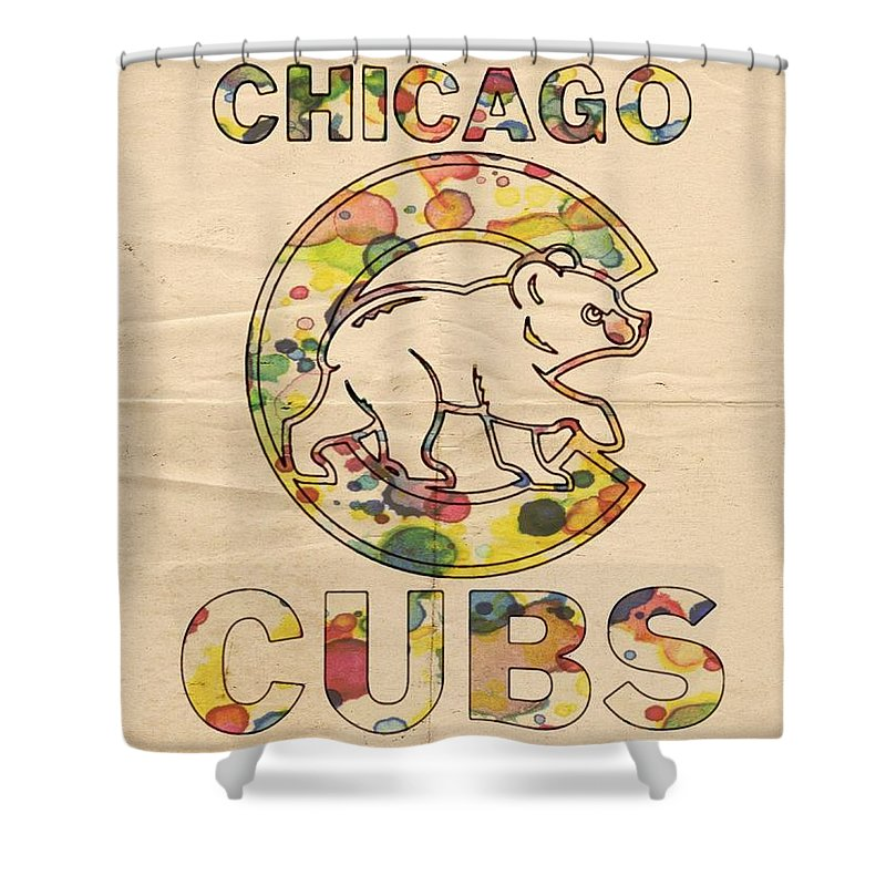 Chicago Cubs Vintage Poster Shower Curtain For Sale By Florian Rodarte