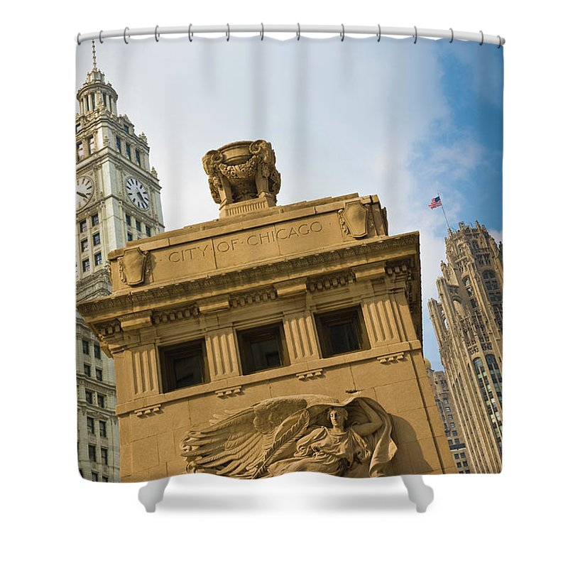Relief Carving Shower Curtain featuring the photograph Chicago by Jmsilva