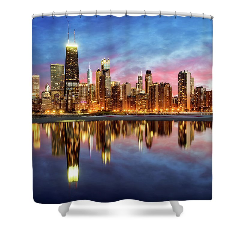Tranquility Shower Curtain featuring the photograph Chicago by Joe Daniel Price