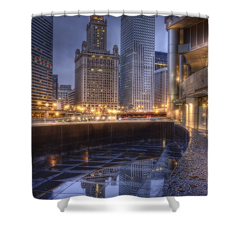 Chicago Shower Curtain featuring the photograph Chicago Reflected by Lindley Johnson