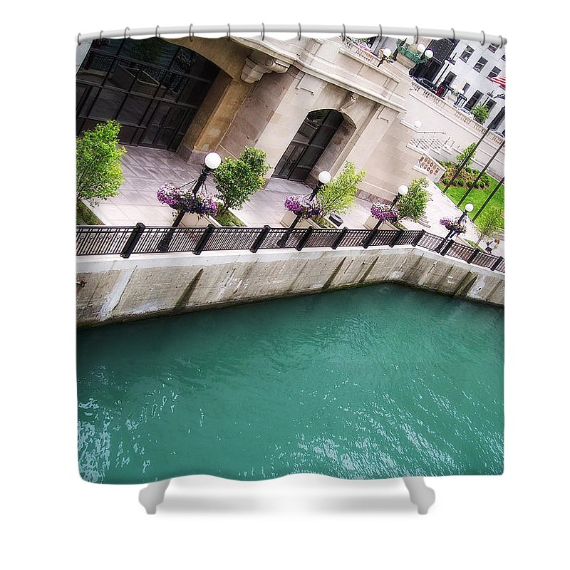 Chicago Shower Curtain featuring the photograph Chicago River by Donna Blackhall