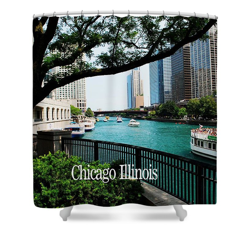 Illinois Shower Curtain featuring the photograph Chicago River Front by Gary Wonning