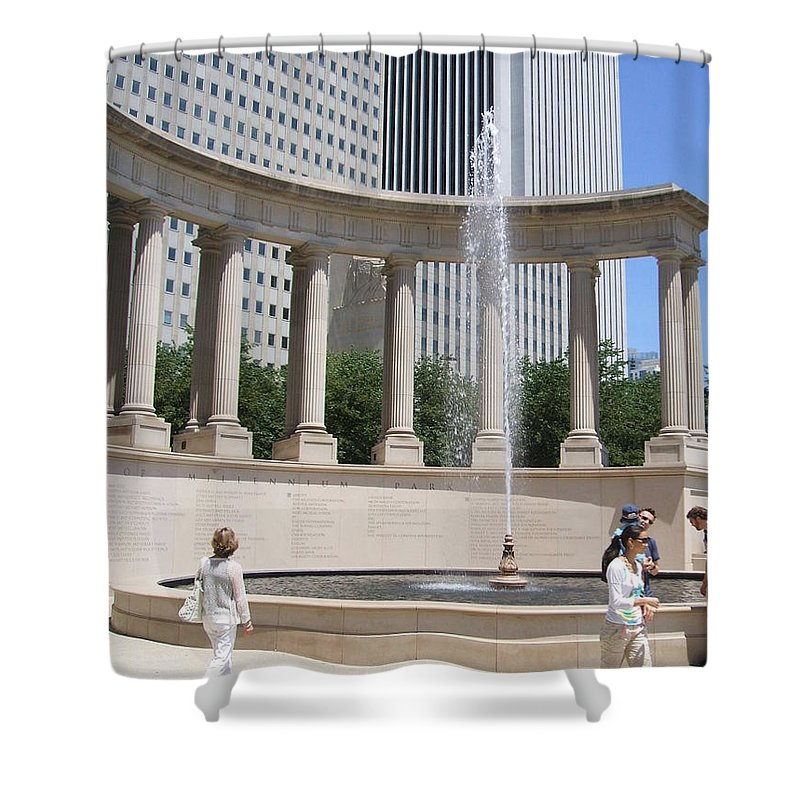 Chicago Shower Curtain featuring the photograph Chicago Tourism by Minding My Visions by Adri and Ray