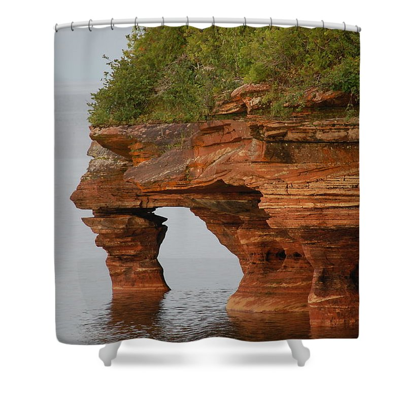 Apostle Islands Shower Curtain featuring the photograph Devil's Island by Kim Blaylock