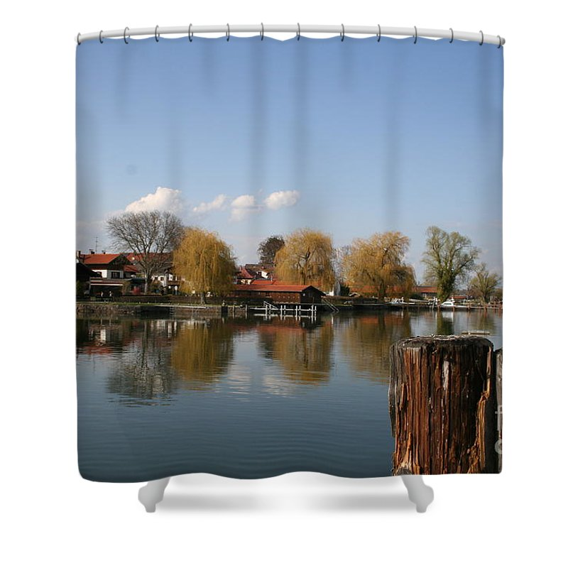 Lake Shower Curtain featuring the photograph Chiemsee - Germany by Christiane Schulze Art And Photography