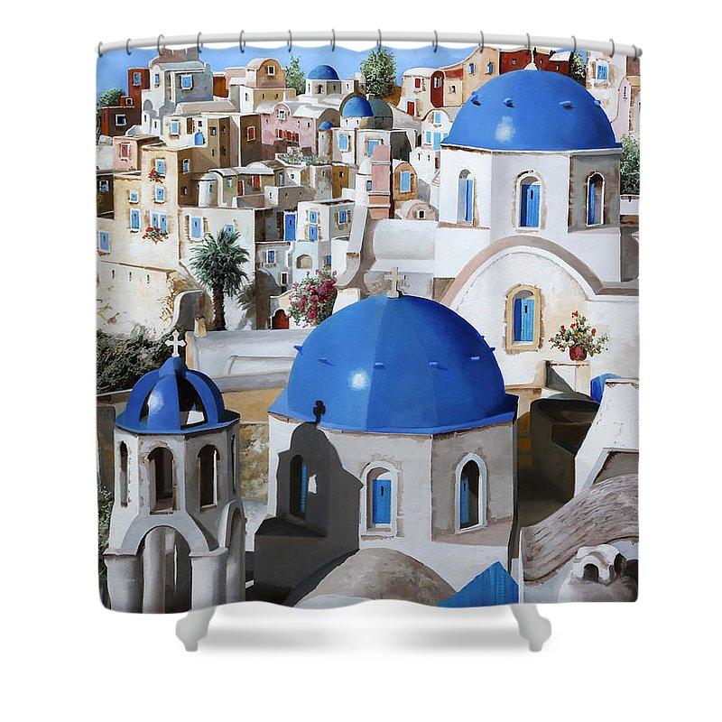 Greece Shower Curtains
