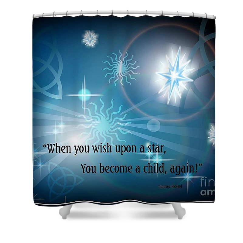 Child Shower Curtain featuring the digital art Child Again by Bobbee Rickard