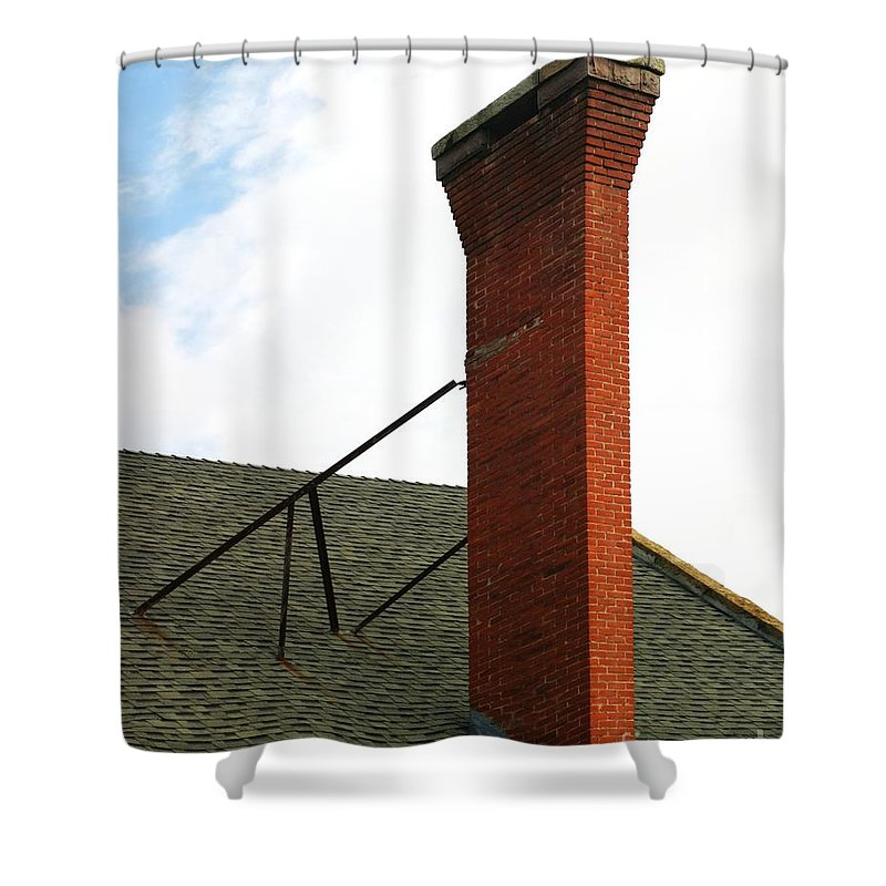 Chimney Shower Curtain featuring the photograph Chimney by Henrik Lehnerer