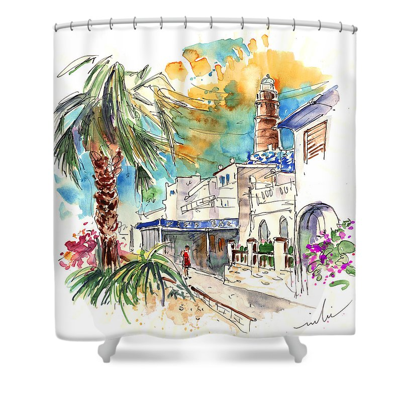 Travel Shower Curtain featuring the painting Chipiona Spain 05 by Miki De Goodaboom