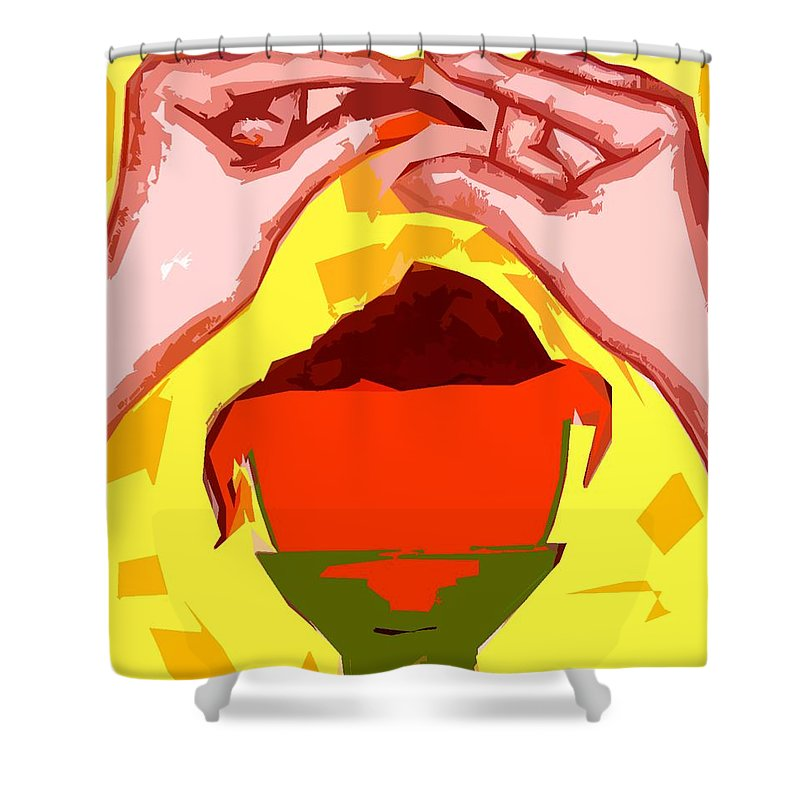 Easter Egg Shower Curtain featuring the painting Chocolate Easter Egg by Patrick J Murphy
