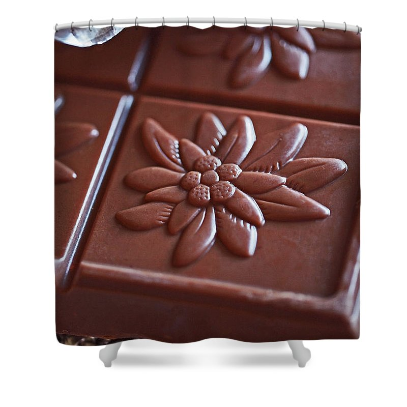 Chocolate Shower Curtain featuring the photograph Chocolate Flower by Rona Black