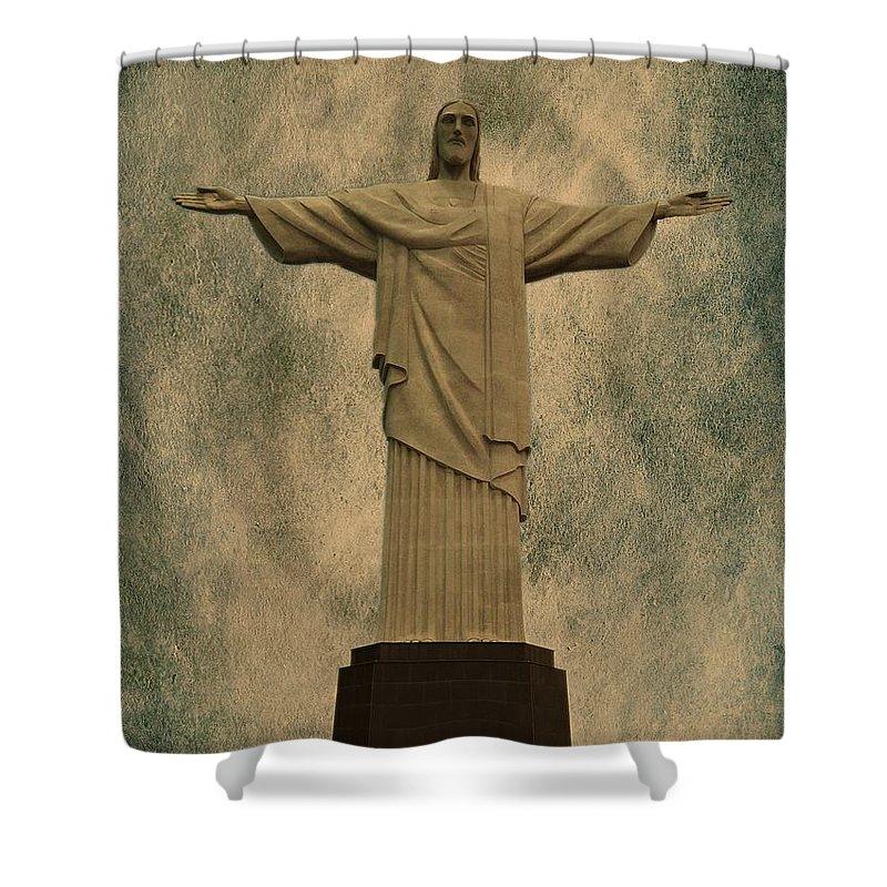 Christ Shower Curtain featuring the photograph Christ The Redeemer Brazil by David Dehner