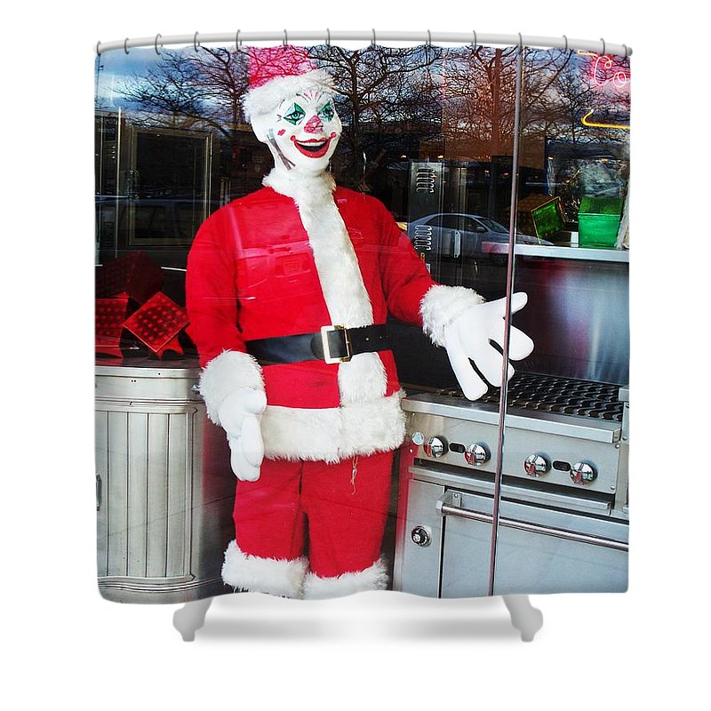 Christmas Shower Curtain featuring the photograph Christmas Clown by Eric Schiabor