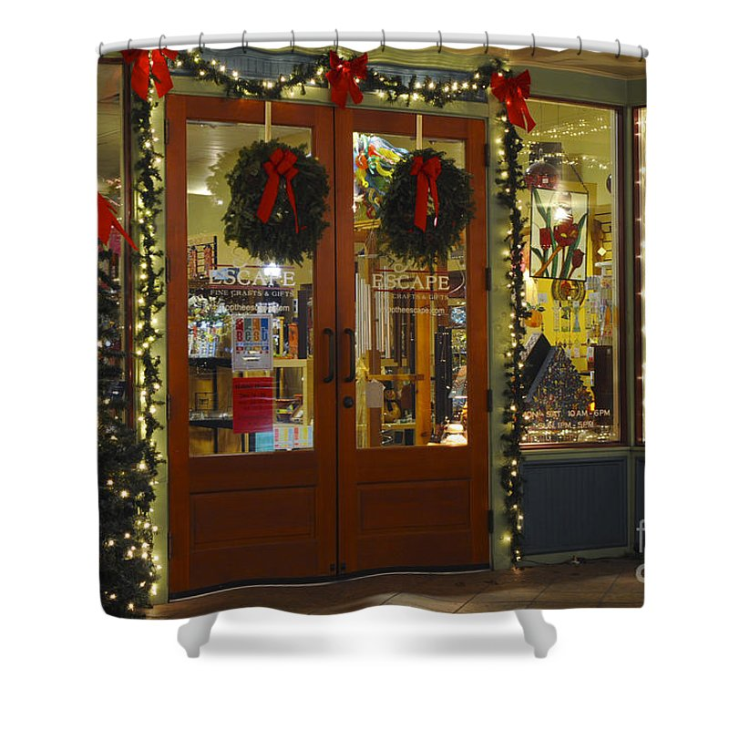 Georgetown Shower Curtain featuring the photograph Christmas Gifts by Bob Phillips