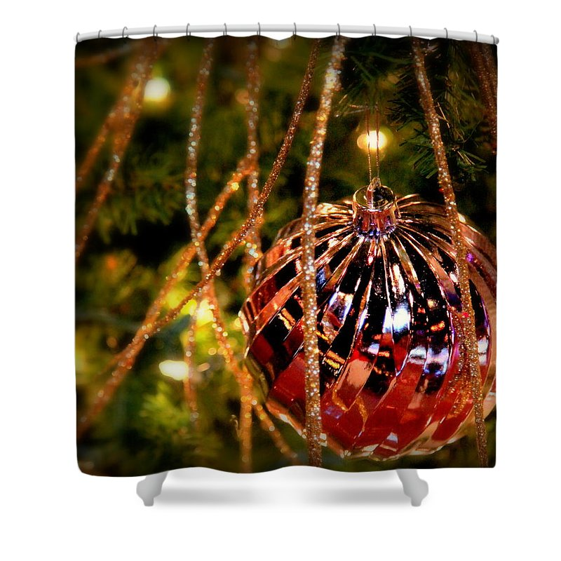 Christmas Shower Curtain featuring the photograph Christmas Magic by Karen Wiles