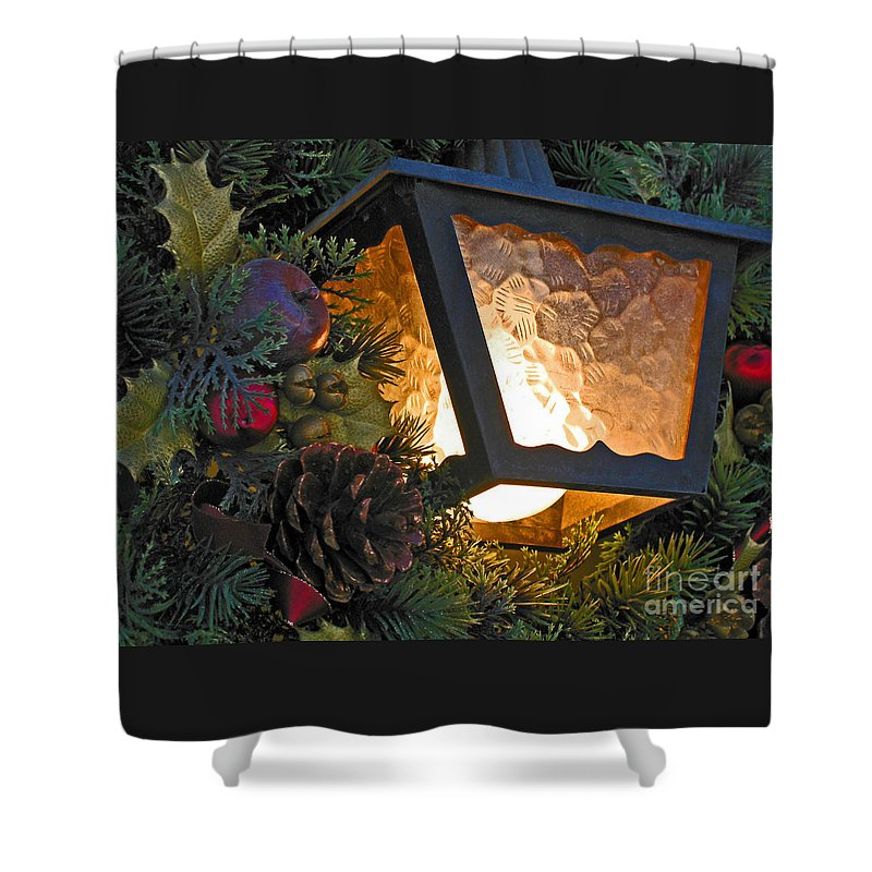 Christmas Shower Curtain featuring the photograph Christmas Welcome by Ann Horn