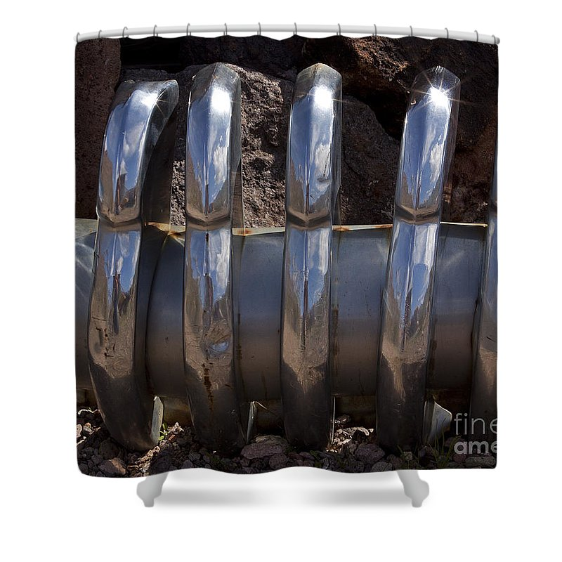 Car Shower Curtain featuring the photograph Chrome Teeth  #0958 by J L Woody Wooden