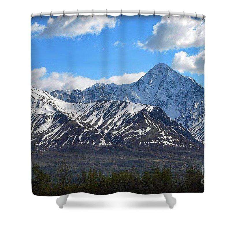 Alaska Shower Curtain featuring the photograph Chugach Mountain Range by Dyle  Warren