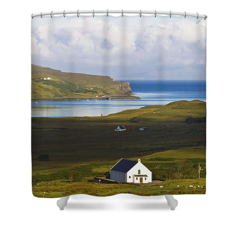White Shower Curtain featuring the photograph Church At Glendale by Diane Macdonald