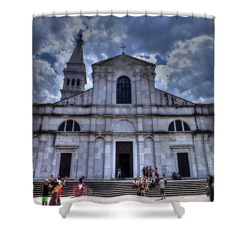 Church Shower Curtain featuring the photograph Church Of St. Euphemia by Mladen Maricic