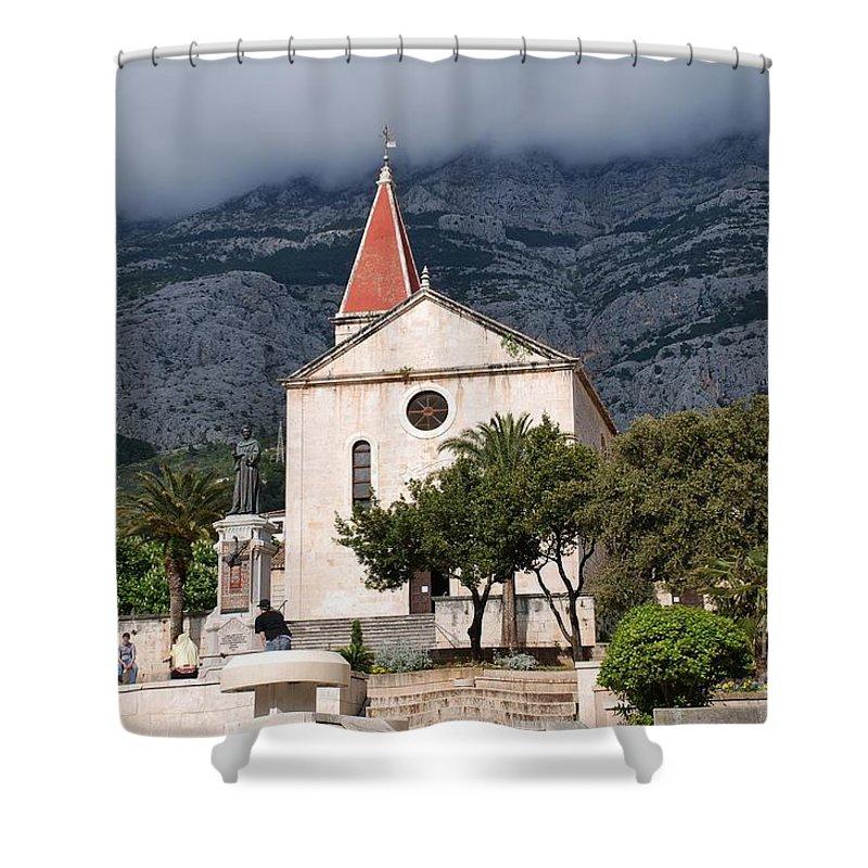 Brela Shower Curtain featuring the photograph Church Of St.mark Makarska by David Fowler