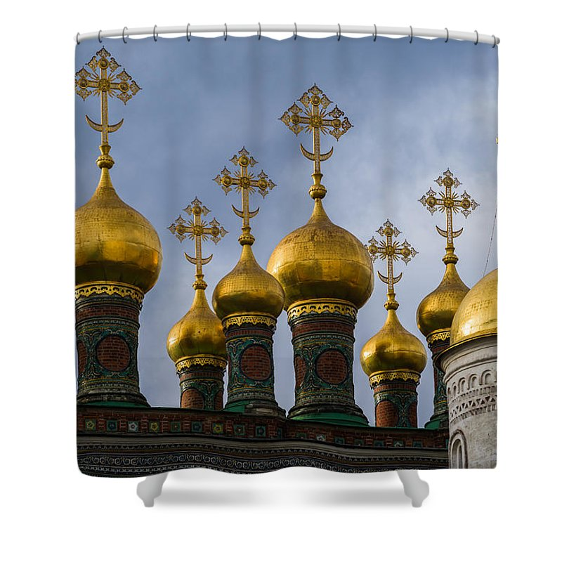 Architecture Shower Curtain featuring the photograph Church Of The Nativity Of Moscow Kremlin by Alexander Senin