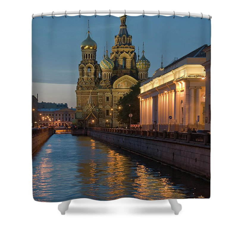 Built Structure Shower Curtain featuring the photograph Church Of The Saviour On Spilled Blood by Izzet Keribar
