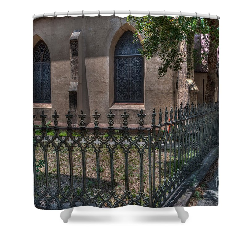 St. John's Reformed Episcopal Church Shower Curtain featuring the photograph Church Yard by Dale Powell