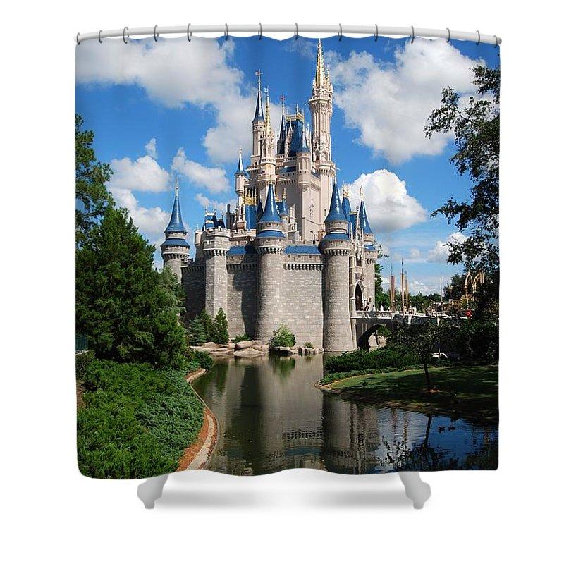 Cinderellas Castle Shower Curtain featuring the photograph Cinderellas Castle by Eric Liller