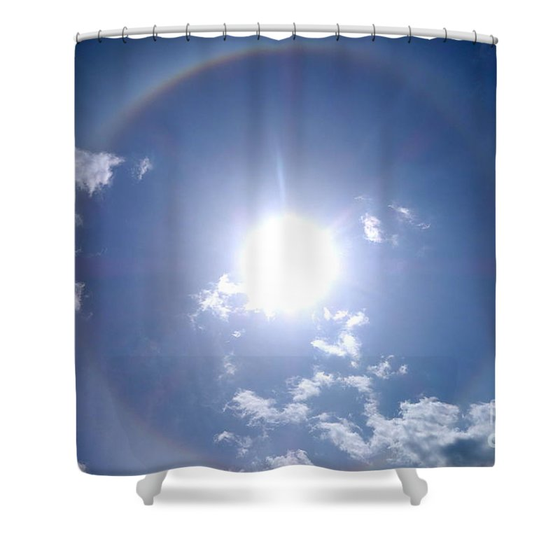 Sun Dog Shower Curtain featuring the photograph Circle Bow by Jacqueline Athmann