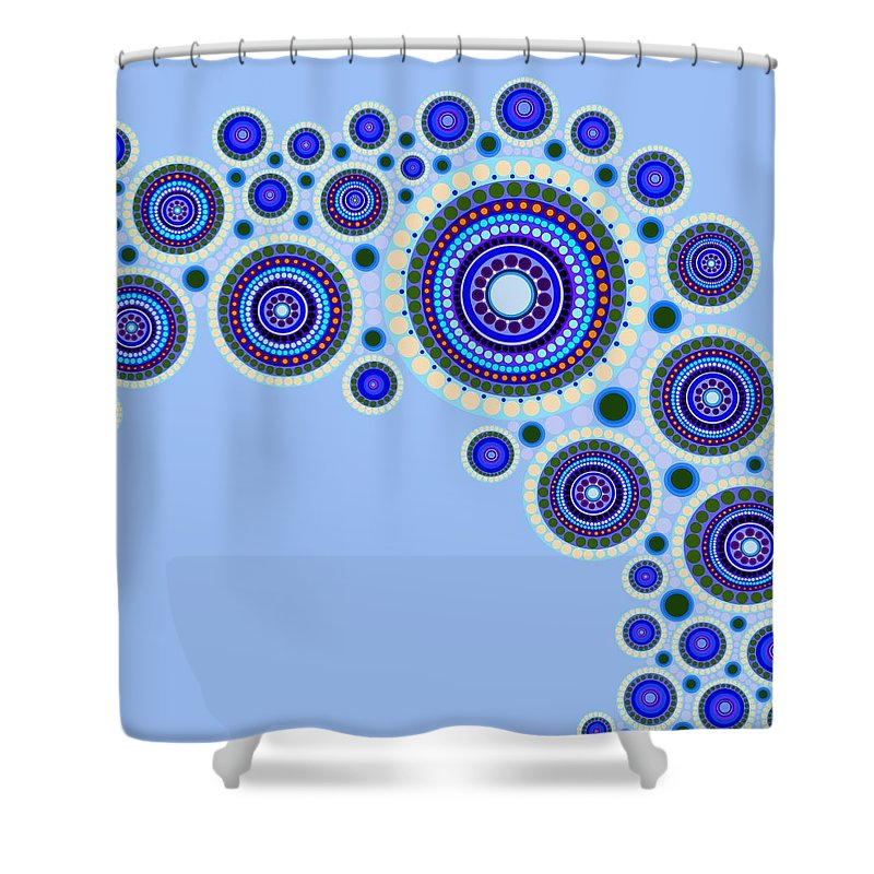 Art Shower Curtain featuring the painting Circle Motif 117 by John F Metcalf