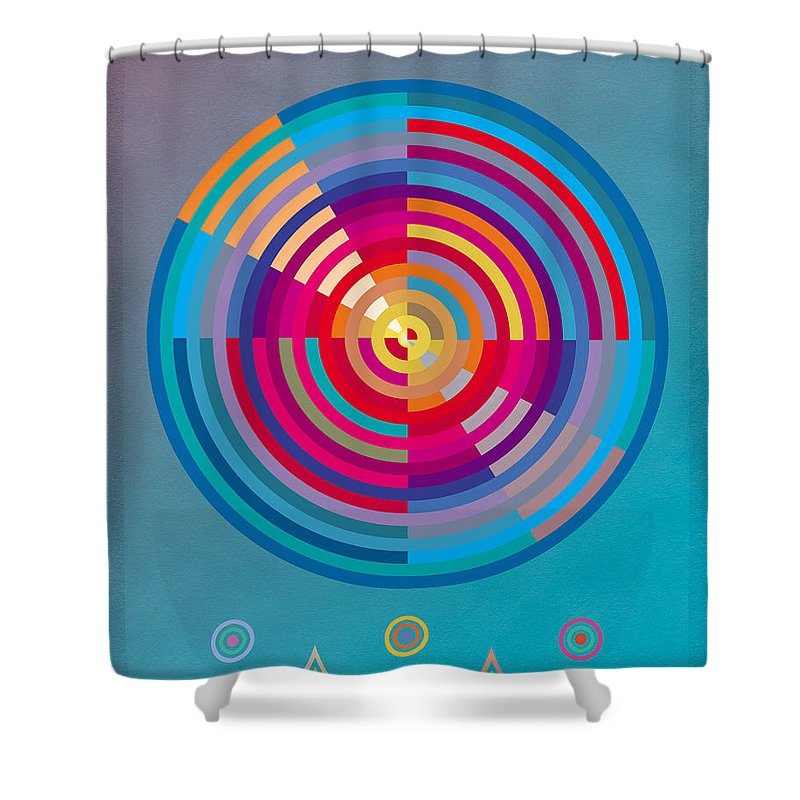 Circles Shower Curtain featuring the painting Circles by David Klaboe