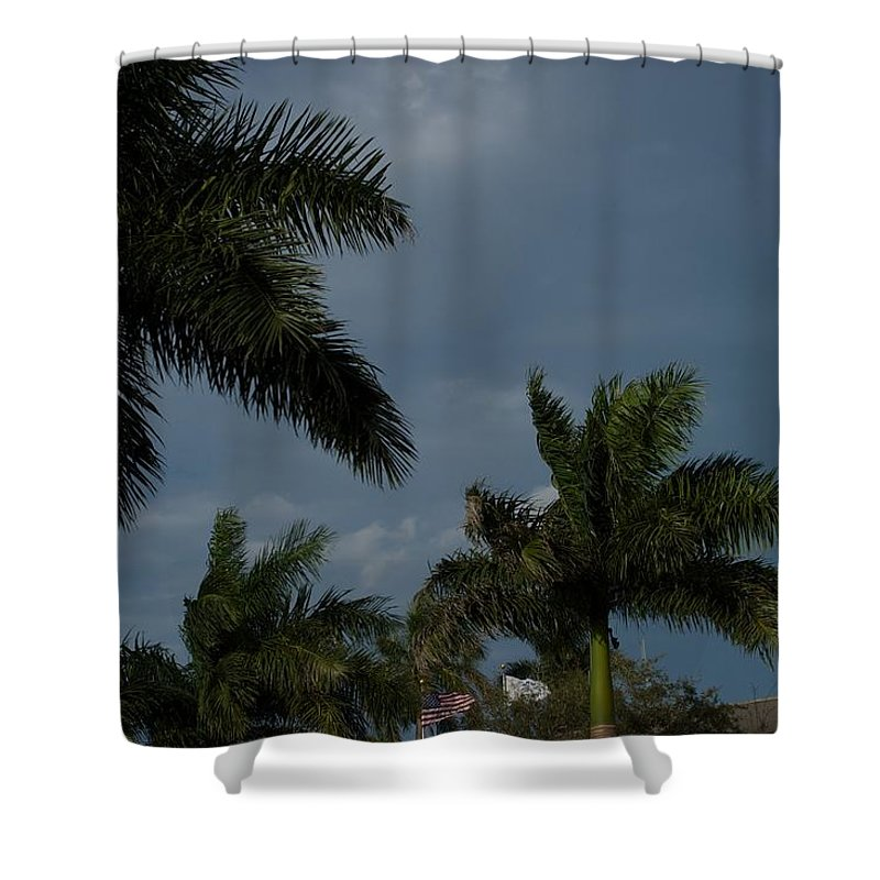 Flags Shower Curtain featuring the photograph City Hall by Joseph Yarbrough