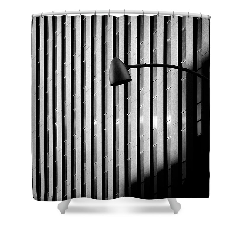 New York Shower Curtain featuring the photograph City Lamp by Dave Bowman