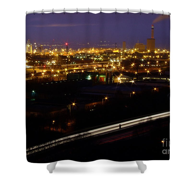 City Shower Curtain featuring the photograph City Lights At Night by Antony McAulay