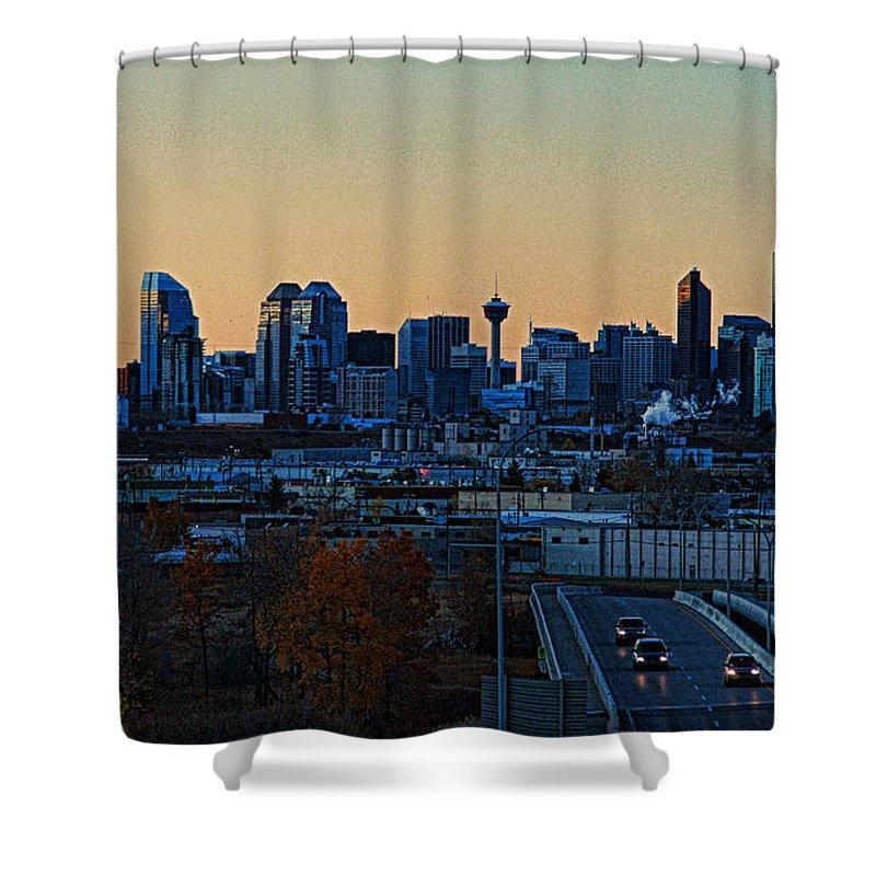 Calgary Shower Curtain featuring the photograph City Of Calgary by Randy Harris