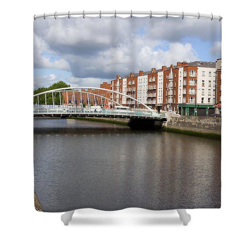 Dublin Shower Curtain featuring the photograph City Of Dublin In Ireland by Artur Bogacki