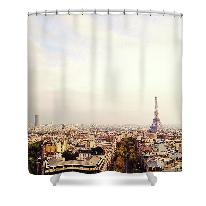 Tranquility Shower Curtain featuring the photograph City Paris by M Swiet Productions