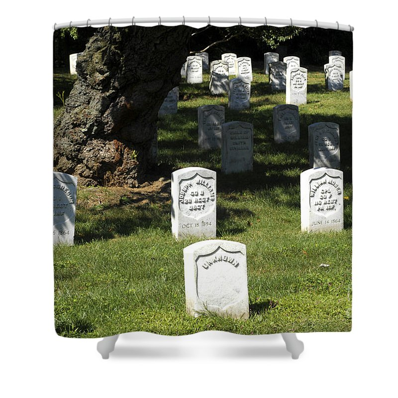 Arlington Shower Curtain featuring the photograph Civil War Dead At Arlington by Paul W Faust - Impressions of Light