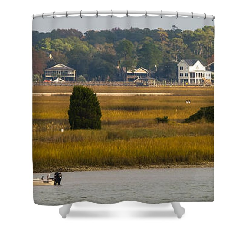 Murrells Inlet Shower Curtain featuring the photograph Clam Country by Ed Gleichman