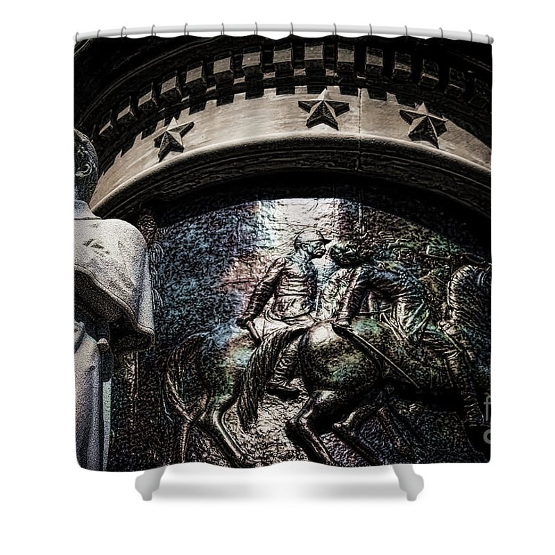 Confederate Shower Curtain featuring the photograph Clarity Of War IIi by Lesa Fine