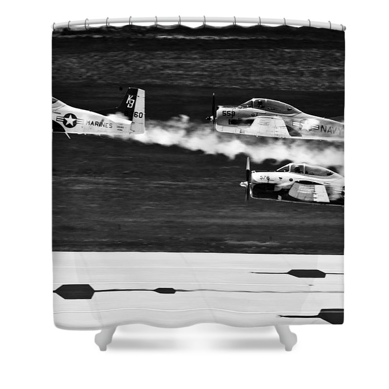Ellsworth Air Force Base Shower Curtain featuring the photograph Classic Airpower by Mountain Dreams