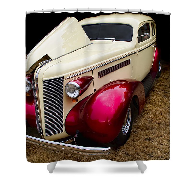 Buick Shower Curtain featuring the photograph Classic Car - 1937 Buick Century by Peggy Collins