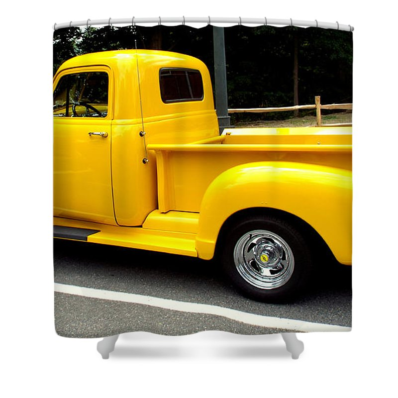 Classic Cars Shower Curtain featuring the photograph Classic Chevy Truck by Rebecca Malo