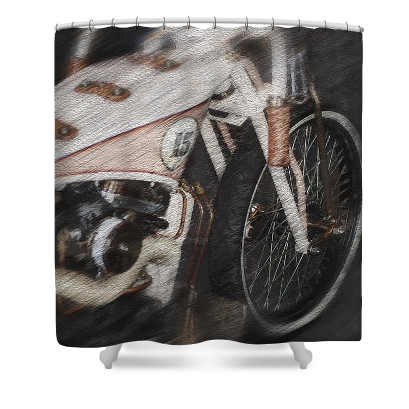 Classic Harley Davidson Shower Curtain For Sale By Jack Zulli